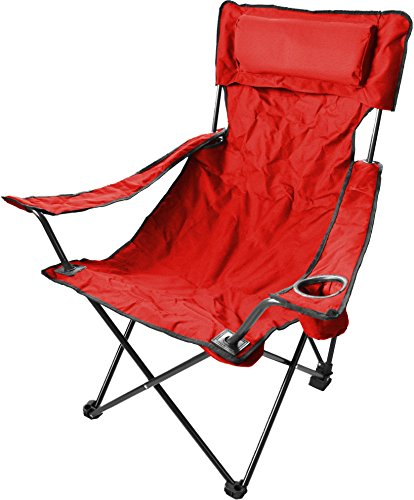 normani Robuster Camping Outdoor Angler Klappstuhl Outdoor Farbe Rot Deluxe
