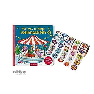 Ars Edition Hör mal, so klingt Weihnachten (Pappbilderbuch) + gratis Kinder-Weihnachtssticker