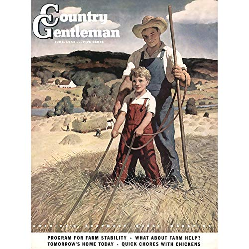 Country Gentleman Cover (Wee Blue Coo LTD Magazine Cover 1944 Country Gentleman Farming Art Canvas Print)