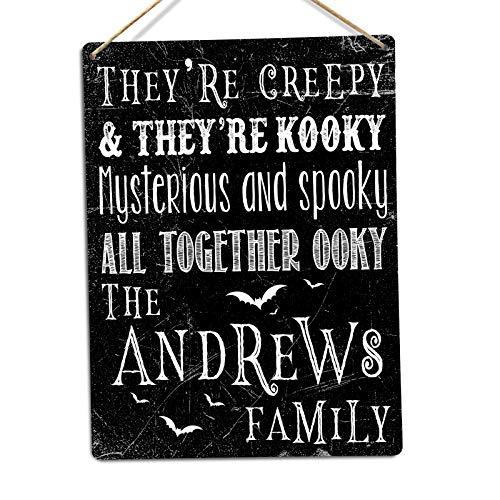 | Toasted Termine Hier | Personalisierbar Addams Familie Schild | Metall Wandschild Aufschrift, Twine (Kostüm Candy Monster)