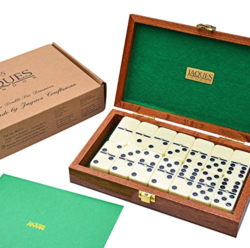 Jaques of London Luxury Dominoes in Handmade Mahogany Case