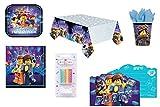 Mgs33 Kit Anniversaire Lego ,Vaisselle jetable pour goûter d'Anniversaire 61 pièces , Motif Lego movie2 , Party ( + 1 Jeu PC CDrom Suprise Lego Offert*)...