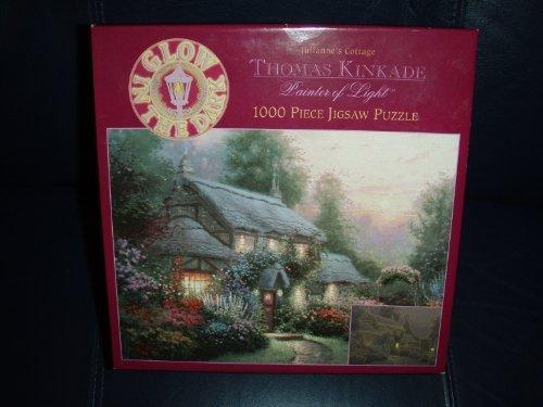 Thomas Kinkade Glow in the Dark Puzzle-Julianne's Cottage - Juliannes Cottage