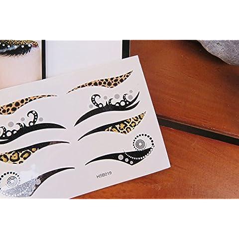 Set di 4paia di colore nero occhi alato Bridal antistrappo trucco Eyeliner Tatuaggi Temporanei danza Masquerade Party Natale, Halloween