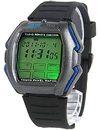 YPS hombres de la pantalla táctil de TV / DVD / VCR control remoto reloj WTH1034