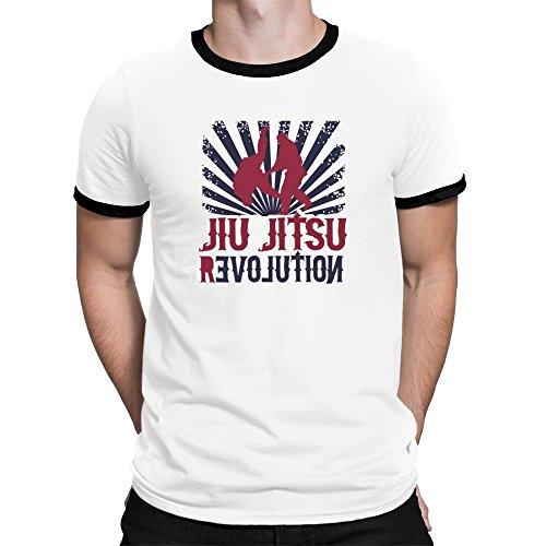 Revolution Ringer T-shirt (Teeburon Jiu Jitsu REVOLUTION Ringer T-Shirt)