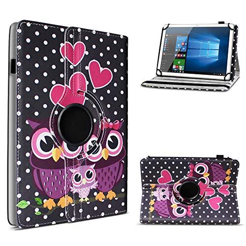 UC-Express Tablet Schutzhülle für 10-10.1 Zoll Tasche aus hochwertigem Kunstleder Standfunktion 360° Drehbar Universal Case Cover, Farben:Motiv 4, Tablet Modell für:Acepad A96