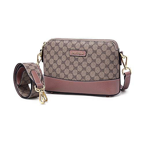 MIMI KING Frauen Messenger Bag Kleine Geldbörse Crossbody Mode Muster Umhängetasche Mini Casual Handtasche,Rosa