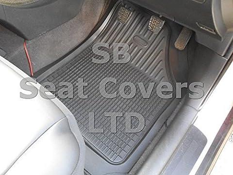 To Fit A Lexus GS, PVC Black Rubber Car Mats