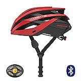 Coros OMNI Smart Fahrradhelm mit Bone Conductive Kopfhörer & LED-Rücklicht | Verknüpfe über Bluetooth für Musik, Telefonate & Navigation | Bequem, leicht (M (55-59cm), Rot)
