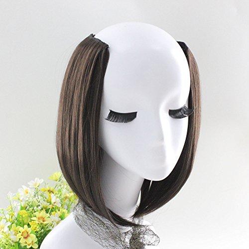 amen 1 Stück 2 Clip In Haarver Längerungen Gerade Hübsche Frau Mädchen Perücke Haar ()
