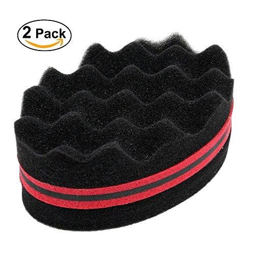 BEWAVE Haar Twist Schwamm Styling Werkzeug Für Schreckensbilder Afro Loks Twist Curl-Coil Super Schöne (2 Packungen) (Rot)