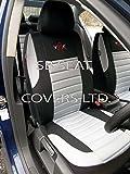SB Car Seat Covers VRX- Fundas de asiento universal para Seat Ibiza y Leon, color gris