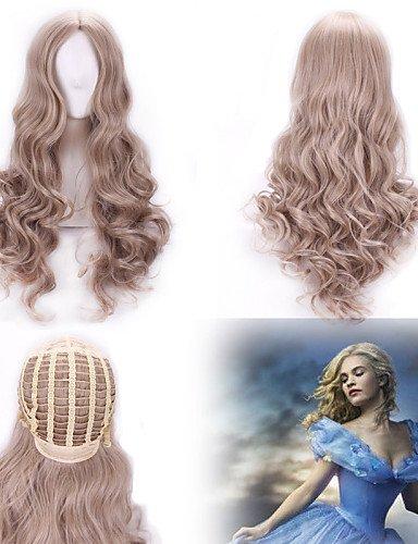 Perücken Haar europäischen Mode neue Cosplay lang Perücke lockig Cinderella grau