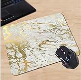Blattgold Marmor Muster Mauspad Anti-Rutsch, Wasserfest 220x180 Veredeln Sie Ihren Schreibtisch mit diesem eleganten Mauspad