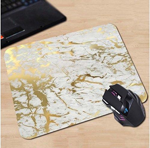 Preisvergleich Produktbild Blattgold Marmor Muster Mauspad Anti-Rutsch, Wasserfest 220x180 Veredeln Sie Ihren Schreibtisch mit diesem eleganten Mauspad
