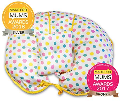 Almohada de lactancia exclusiva de algodón 4 en 1 con mini almohada y arnés de bebé gratis multicolor...