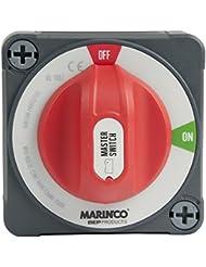 Marinco 69-770DPEZO Interruptor de Batería, Gris/Rojo, Talla Única