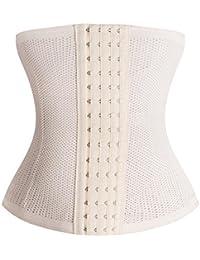fdad8729791 HITSAN Incorporation Hot Body Shaper Waist Trainer Belt Steel Boned Corset  Women Postpartum Belly Slimming Underwear