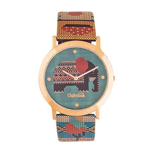 Chumbak Analog Green Dial Women's Watch-8907605005930
