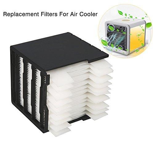 Suzada Filter Ersatz für Mini Luftkühler Ventilator Air Cooler Mobil Klimageräte mit Wasserkühlung, 11,5 * 11 * 12cm - Ventilator Ersatz