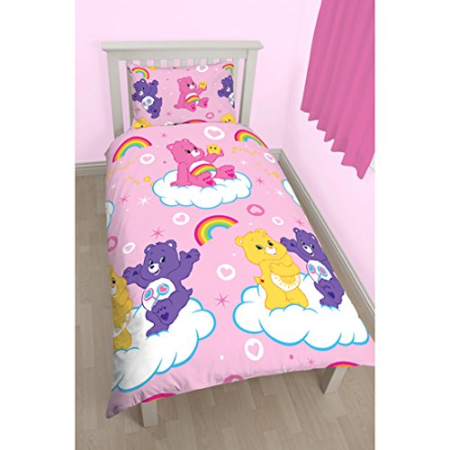 Image of Care Bears 'Share' Single Duvet Set - Repeat Print Design