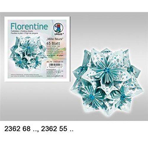 "Preisvergleich Produktbild Faltblätter Florentine ""MILLE FLEURS"" 10x10 cm, 65 BL. BLAU/HELLBLAU"