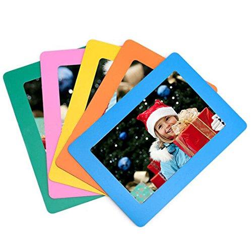 SFTlite [5 Pack] Magnetische Bilderrahmen Kühlschrank Standard 4 x 6 Zoll Postkarte Größe Magnetic Fridge für Kühlschrank Standard Polaframes Photo Frames Größe Magnetische Foto Tasche (Große Foto-frame)