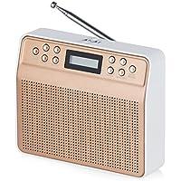Akai A60013BG Dynamx Portable DAB Radio with Clear Sound Quality and LCD Backlight Screen - Blush Gold - ukpricecomparsion.eu