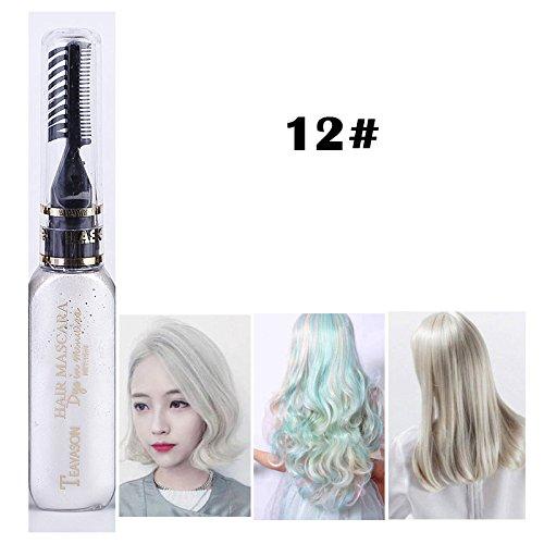 DIY Langlebige Temporäre Schimmer Haar Farben Creme mit Kämme Haare Färben Kreide Haartönungen (Weiße Spray Haar Temporäre)
