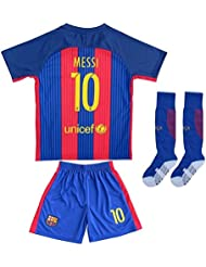 2016/2017 Barcelone # 10 Lionel Messi Home Soccer Jersey & Short Youth Tailles