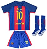 2016/2017 Barcelone # 10 Lionel Messi Home Soccer Jersey & Short Youth Tailles, home