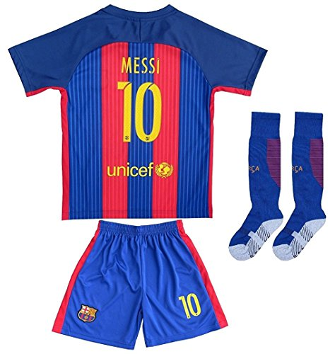 new style 03c38 08a57 2016/2017 BARCELONA #10 LIONEL MESSI HOME SOCCER JERSEY ...