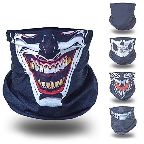 Joker schwarz helloween Verkleidung Gesichtstuch tuch multifunktionsmaske multifunktionsbekleidung multifunktionskleidung kopftuch kopfband funktionsmaske funktionsbekleidung ()