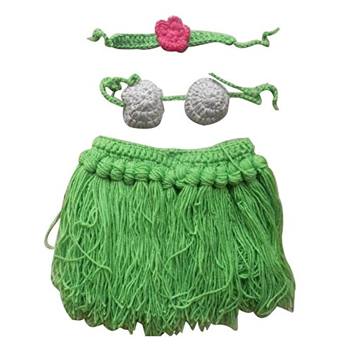 Vogholic-Baby-Girls-Handmade-Crochet-Hula-Skirt-Bra-Photo-Props-Set-Green