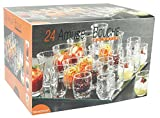 Reception 1618043 Lot de 24 Verrines pour Amuse Bouche Verre Transparent 25 x 19 x 16,5 cm