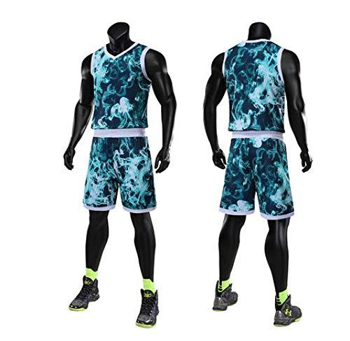 XIAOL Neue Camouflage Männer Werfen Basketball Trikots Anzüge Leer Frauen Team Trainingsanzüge Basketball Trikots Kleidung Uniformen,Green-XXXL