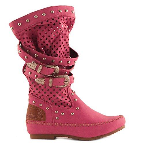 Toocool-Botas de zapatos Bajos indianini mujer Botines traforati nuevo