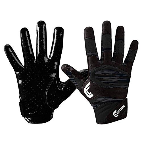 Cutters S451 REV PRO 2.0 Phantom Camo American Football Receiver Handschuhe - schwarz Gr. XL