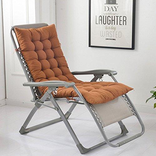 chengyu Hohe Rückenlehne Chaise Lounge Kissen, Lange Sitzkissen mit Hohe Qualität Baumwolle weich Atmungsaktiv Coffee