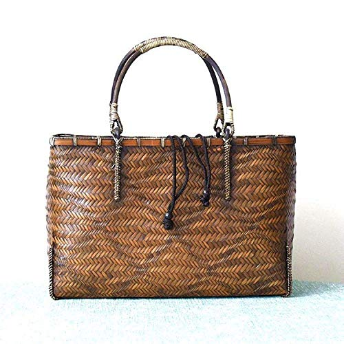 Wing fashion Handgemachte Lagerung Boutique Retro Tasche Damen Handtasche Tasche Tengbian Tasche Einkaufskorb Teezeremonie Tee-Set Bambuskorb -