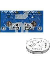 2x batería reloj Renata muñecas–fabricado en Suiza–sin pilas de óxido de plata 0% mercurio Renata pila botón 1,55V pilas larga duración