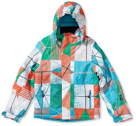 Maier Sports Kinder Jacke Mtex Nukpana, orange / green allover, 152, 310252