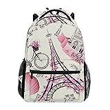 TIZORAX Paris Eiffel Tower - Mochila de Viaje para Mujer y Hombre, Color Pattern-1, Tamaño One_Size