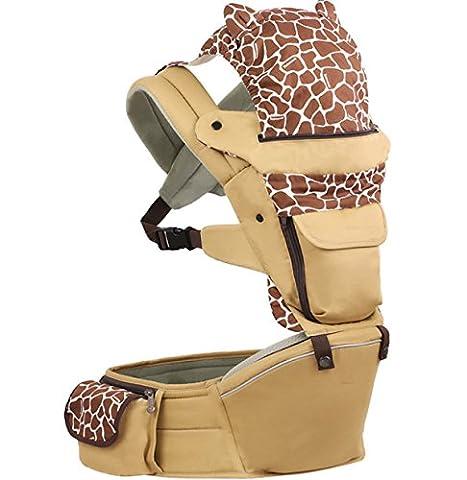 ANHPI Baby Carrier Rucksack Ergonomisches Design Atmungsaktives Mesh-Rücken Abnehmbar Abnehmbar Sitz Komfort Safe,Brown