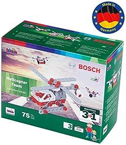 Theo Klein- 8791 Bosch 3 In 1 Set De Construcción, Helicopter Team, Juguete, (8791)