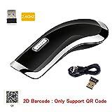 Sumeber QR Barcode scanner mini Tragbarer 2.4G Wireless CCD Barcodeleser für mobile Zahlung Schwarz