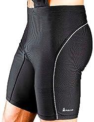 Vulkan Sportline Pantalones Cortos Ligeros, Hombre, Negro, M