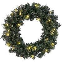 star 612 41 alaska couronne en sapin del lumineuse 1317 w vert 50 x - Couronne Noel Lumineuse Exterieur