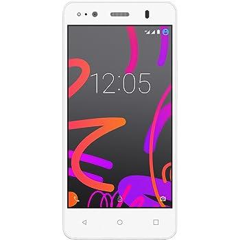 BQ Aquaris M4.5 - Smartphone de 4.5 pulgadas (Wi-Fi, Bluetooth 4.0, GPS, Quad Core A53 1 Ghz, 8 GB de memoria interna, 1 GB de RAM, Android 5.1 Lollipop), color blanco